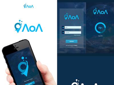App Log In ui branding login app logo design design flat minimal logo