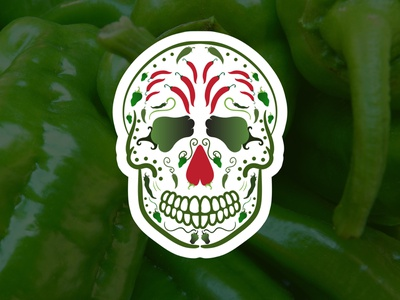 Pepper Man minimal icon vector illustration calavera logo design pepper flat web design logo branding