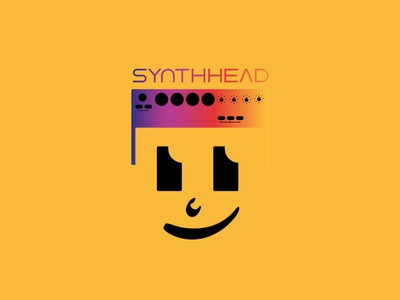 SynthHead web design minimal logo flat icon logo design branding