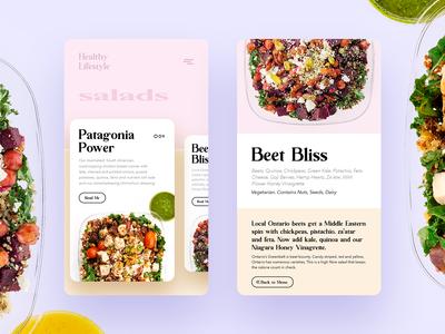Healthy Lifestyle App UI/UX