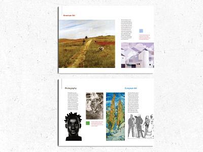 Art Museum Brochure redesign typography design print brochure