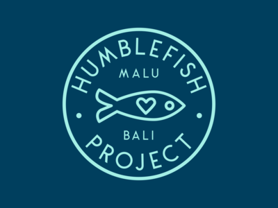 Humblefish Project Logo fairtrade fish bracelets jewelry badge brand icon nonprofit design logo branding