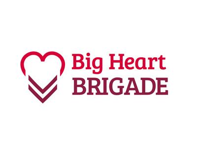 Big Heart Brigade Logo branding logo