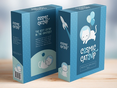 Cosmic Catnip branding redesign packaging