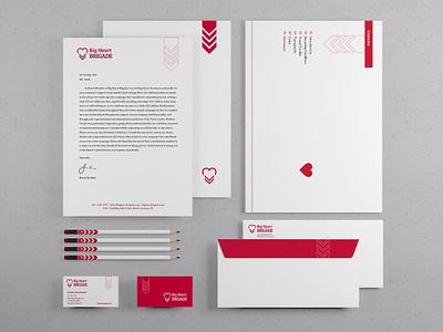 Big Heart Brigade Branding logo redesign nonprofit branding