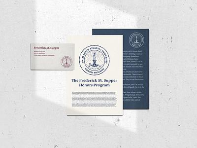 Honors Logo stationery design logo branding