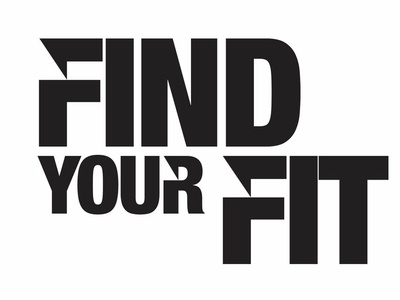 Find Your Fit branding social campaign community logo community street sign billboard signage design creative direction art direction social change