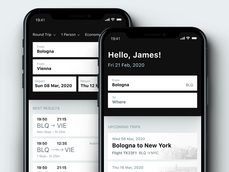 Flights - Concept freebie search travelling ui design filters results trips figma app design traveling flights travel app ui travel