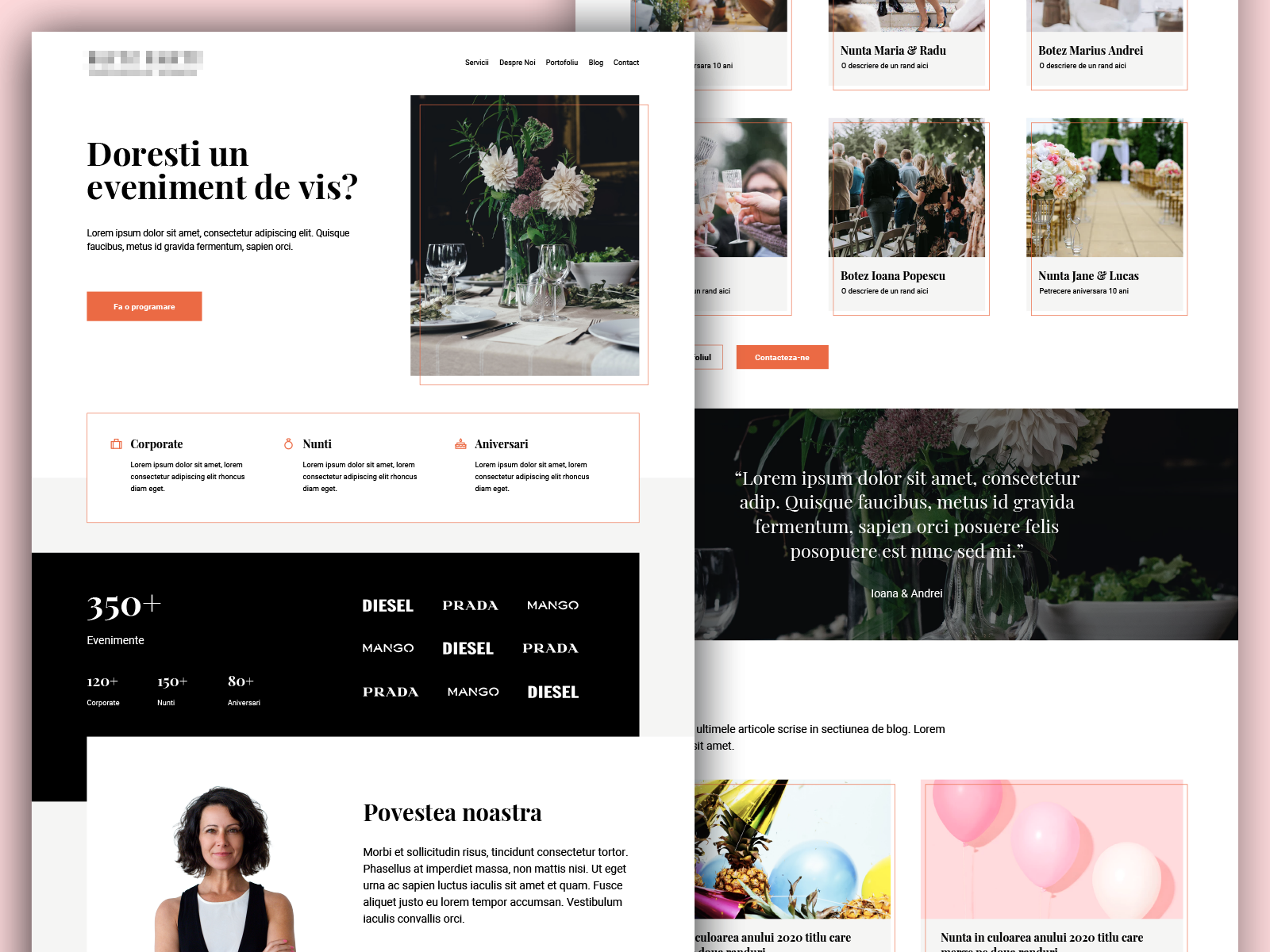 Event Planner - Landing Page