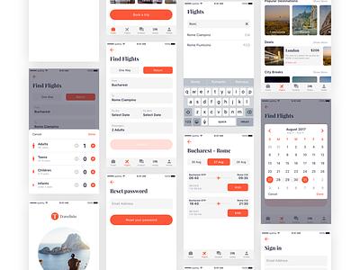 Travelisto UI Kit For Sketch gif ios ui sketch mobile trip travel kit travelisto freebie free app