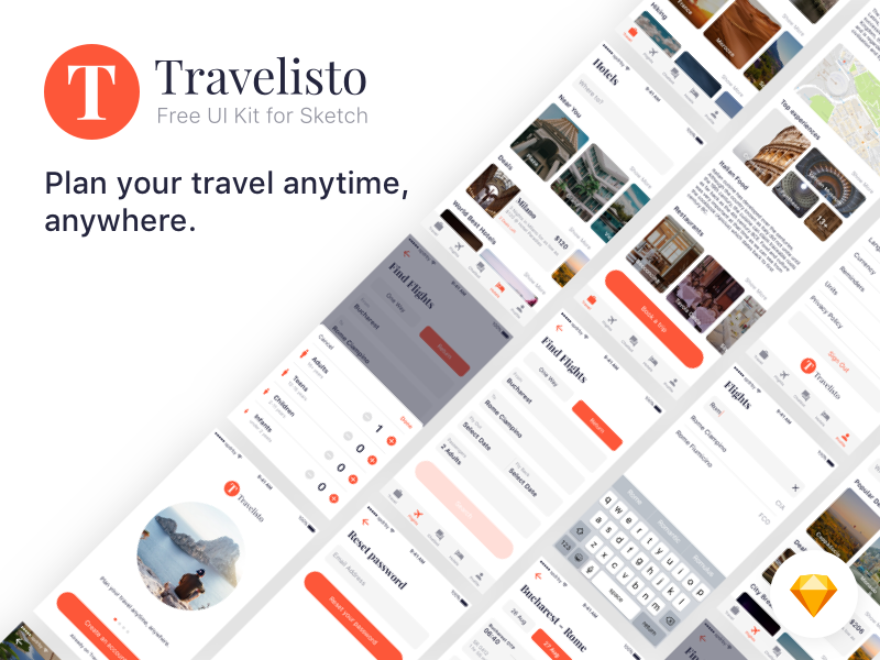 Download Travelisto UI Kit For Sketch
