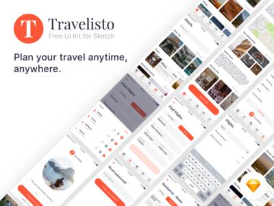 Travelisto UI Kit For Sketch