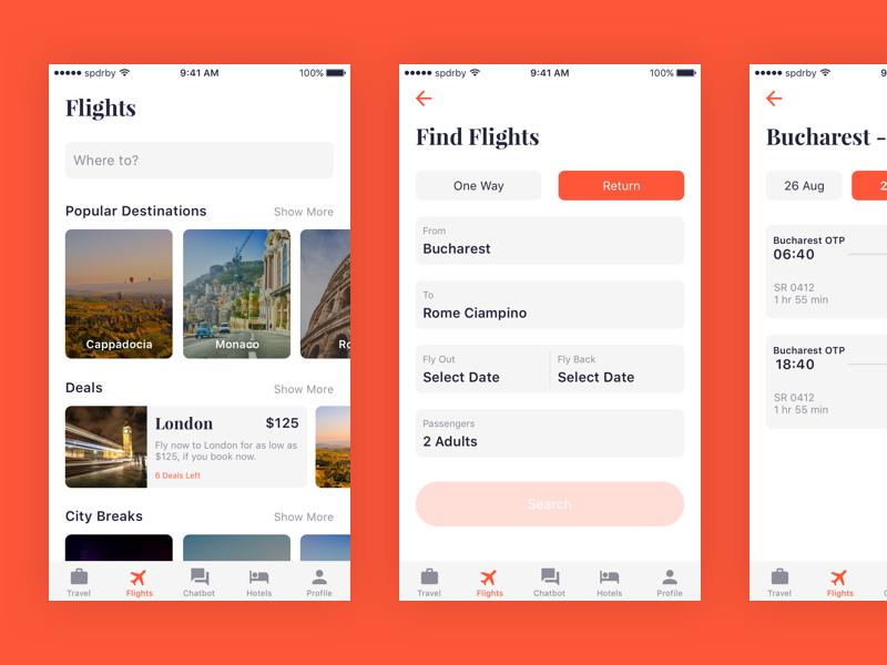 Travelisto UI Kit – Flights