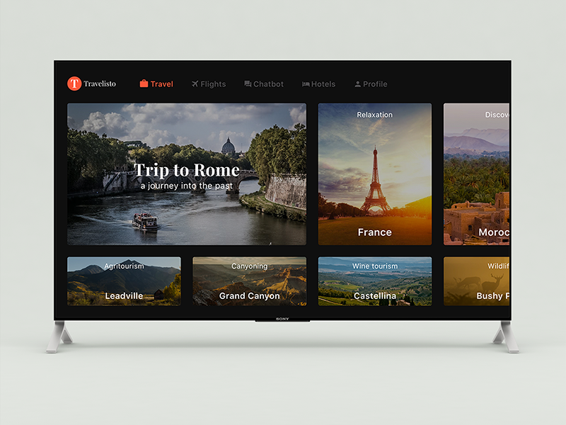 Travelisto for Apple TV by Robert Anitei on Dribbble