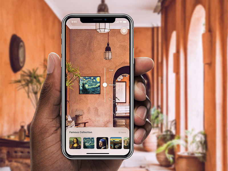 Paintings AR App for iPhone X
