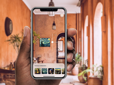 Paintings AR App for iPhone X free painting freebie augmented reality ui sketch iphone app design iphone x ar arkit app