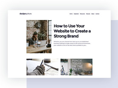 Design Blog Concept news wordpress landing web ux ui xd sketch website blog design concept