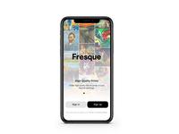 Fresque - Splash and Login Animation