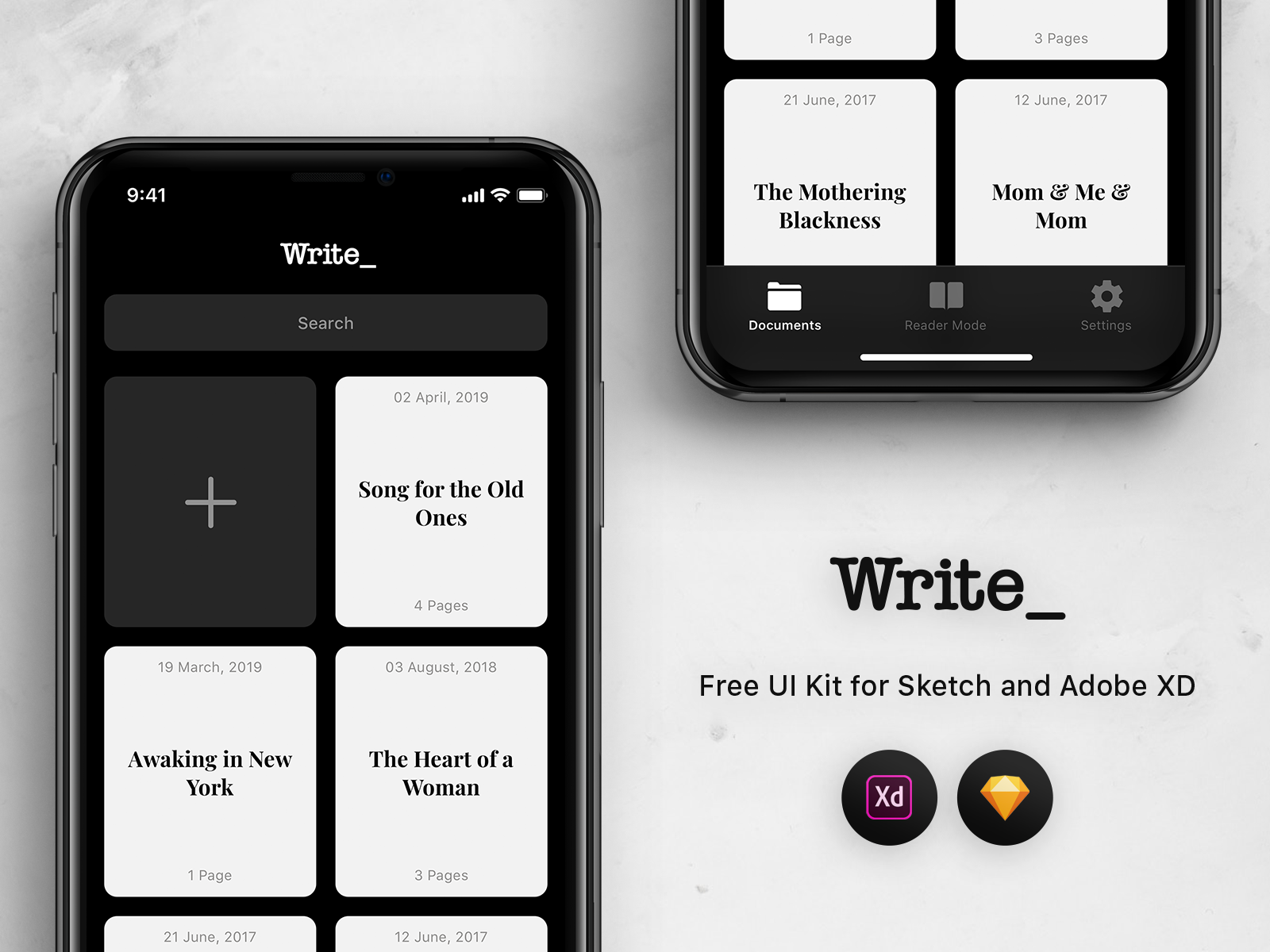 Write   free ui kit   preview