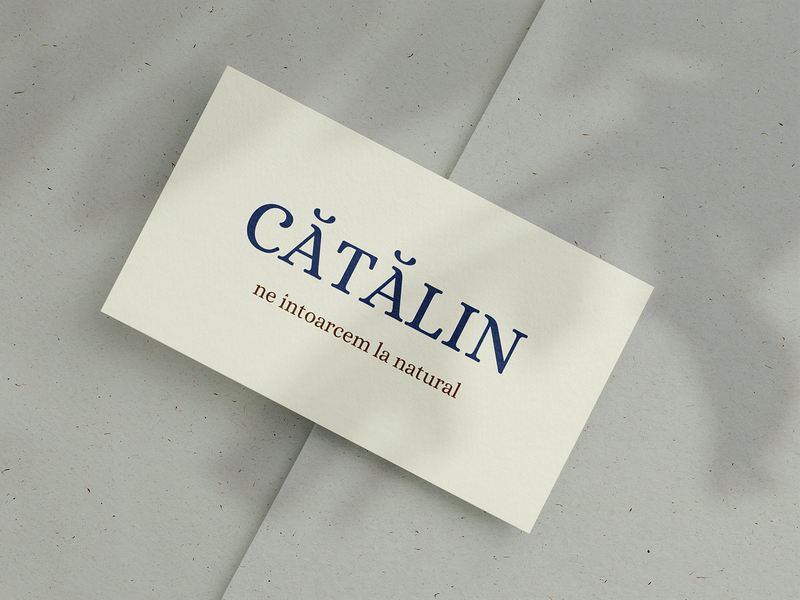 Cătălin Bakery romania tagline simple natural mockup typography shop logo branding brand bakery