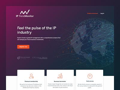 IP Trend Monitor cta trends study design marketing site marketing web design microsite website ip