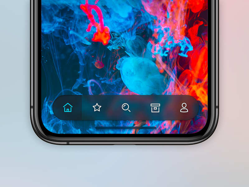 Mobile App Tab Bar neumorphism skeuomorph app app design iphone skeuomorphism apple mobile ios 14 iphone x ux ui skeumorphism blur tab bar mobile app app ios