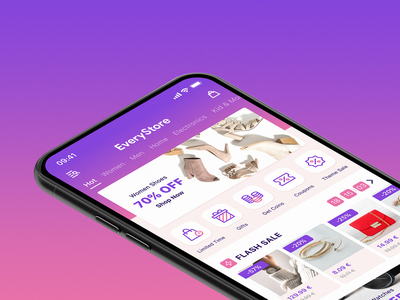 eCommerce iOS App freebie free figma store ux ui gradient mobile app ios application shop ecommerce app design app