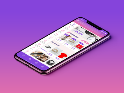 eCommerce iOS App - Categories app app design ecommerce shop application ios mobile app gradient categories ux ui store figma free freebie