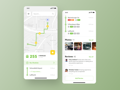 Public Transport App Concept design app ux ui booking bus subway location navigation map ticket transport public transport