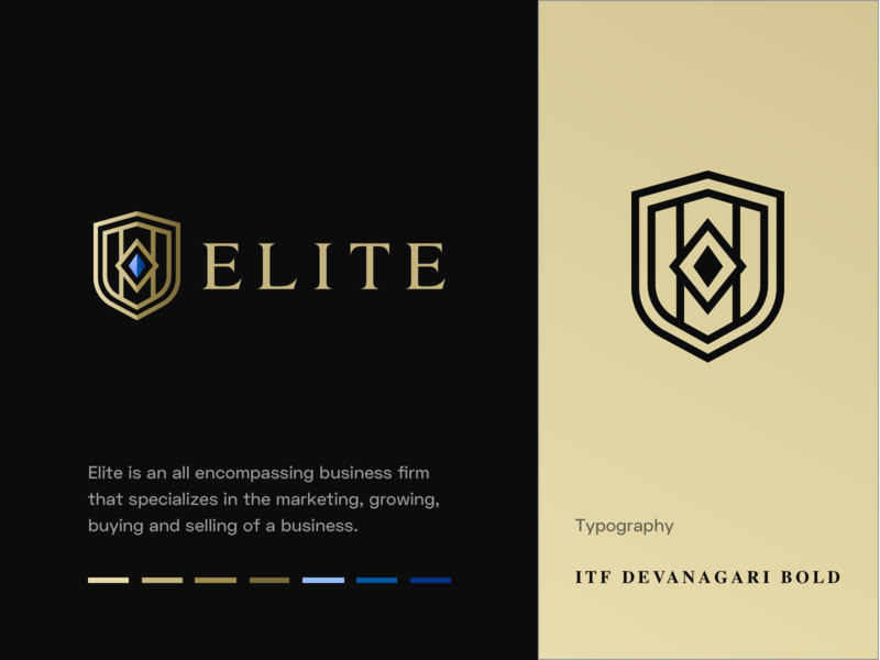 Elite - Logo elite shield vector icon identity branding mark logo