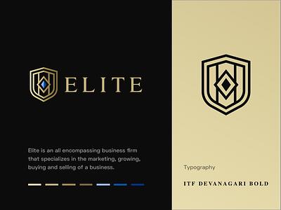 Elite - Logo elite shield vector icon identity branding mark logo