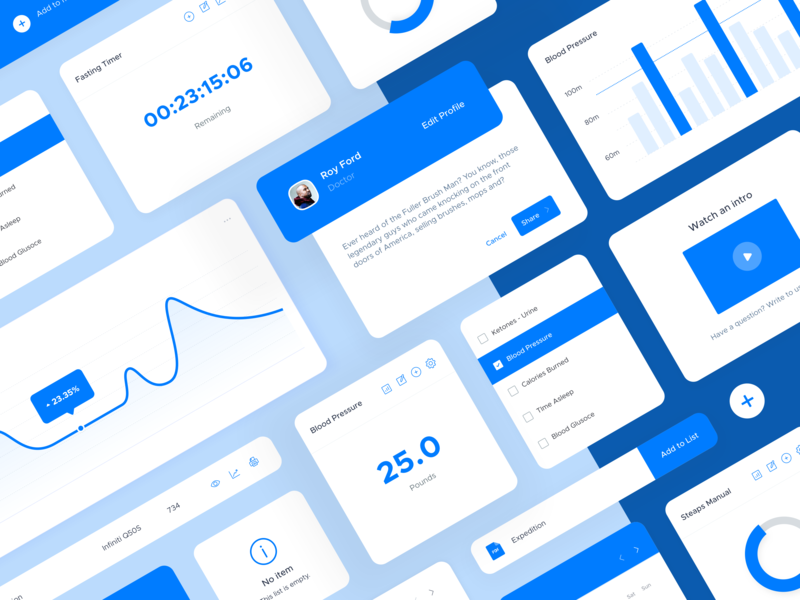 Heads Up Dashboard graph web interface ui elements design system ui kit analytics dashboad ui