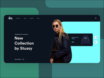 Stussy Site Concept stussy online store clothes streetwear user experience user interface ux kite motion design animation ui