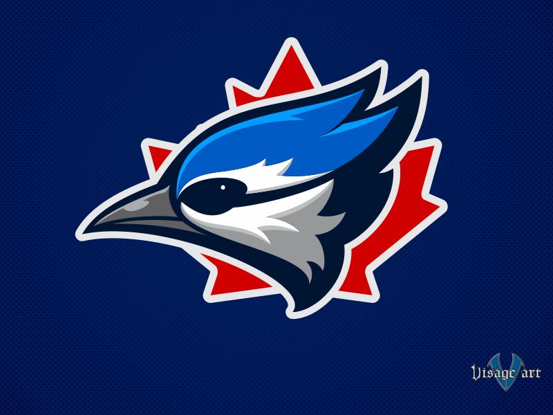 Blue Jays 04 blue jays sports baseball toronto flat vector icon branding design logo illustration