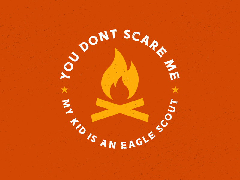 My Kid is an Eagle Scout lockup clean bold identity logo campfire boy scouts eagle scout branding badge