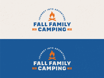 Fall Family Camping Logo nature icon logo design scouts boyscouts adventure badge lockup fall family camping campfire branding identity bold logo minimal illustration