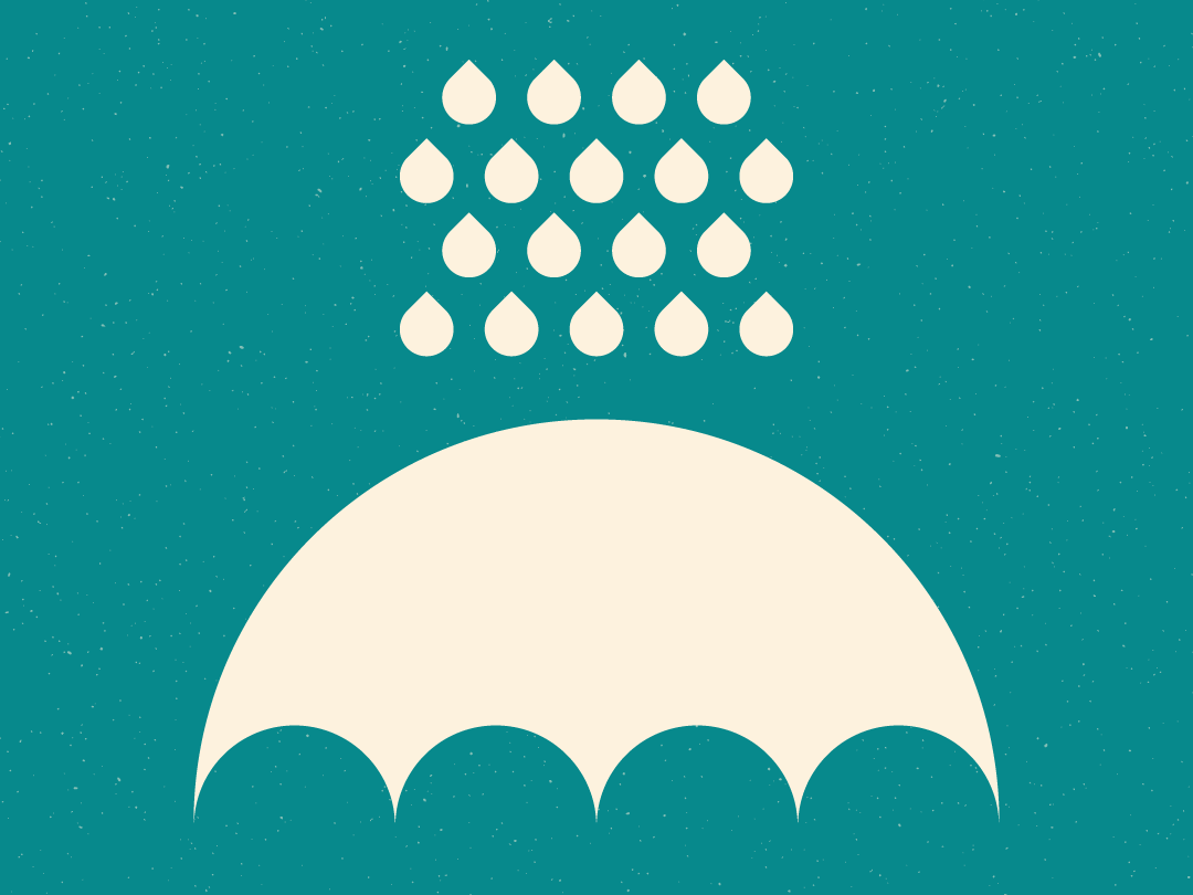 ...But I Like Rainy Days! shape clean mod swiss water rain modern simple curves shapes graphic design vector geometric minimal illustration design