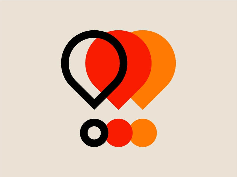 Modernist 001 circle branding shapes modern 70s logo lines clean swiss color icon exclamation point punctuation retro graphic design vector geometric minimal illustration design