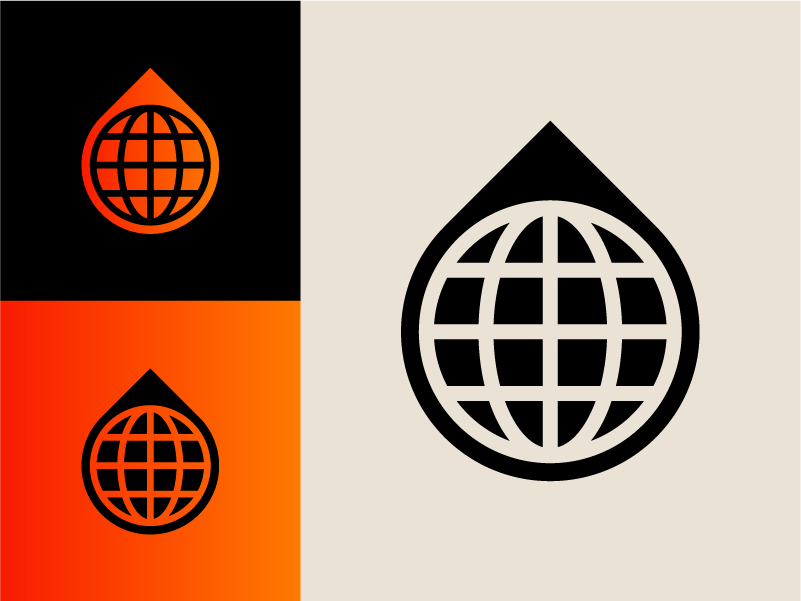 Modernist 005 water world color modernism clean circle branding shapes modern icon 70s retro logo lines graphic design geometric vector minimal illustration design