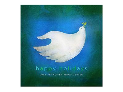 Happy Holidays Illustration for Austen Riggs Center 2016