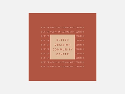 Better Oblivion Community Center – Better Oblivion Community Cen better oblivion community center typogaphy personal project minimalism graphic design album cover design 100 day project