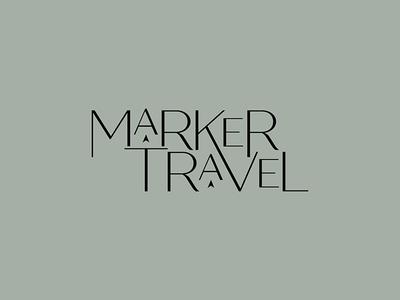Logo Concept – Marker Travel travel brand design graphic design logo typography branding brand identity logo design
