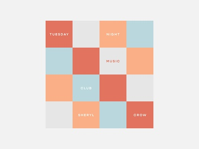 Tuesday Night Music Club – Sheryl Crow album cover design typography graphic design personal project minimalism sheryl crow 100 day project
