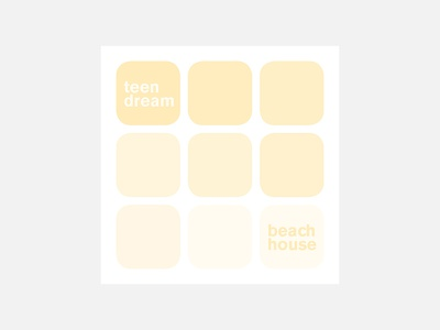 Teen Dream – Beach House typography beach house personal project minimalism album cover design 100 day project