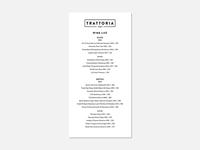 Wine List – Trattoria 141
