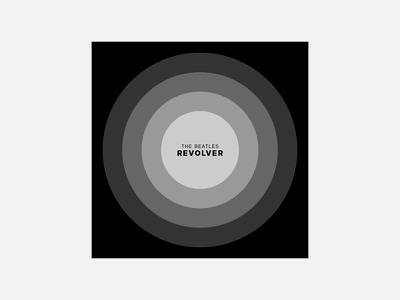 Revolver – The Beatles 100 day project album cover design minimalism personal project the beatles typography