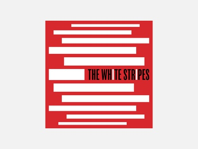 The White Stripes – The White Stripes 100 day project album cover design minimalism personal project the white stripes typography