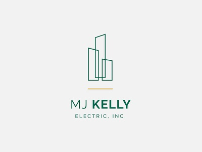Logo – MJ Kelly Electric, Inc. logo design brand identity branding typography logo graphic design brand design architecture real estate electric company
