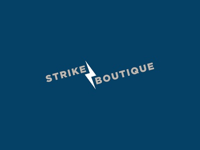 Logo Concept – Strike Boutique logo design brand identity branding typography logo graphic design brand design boutique
