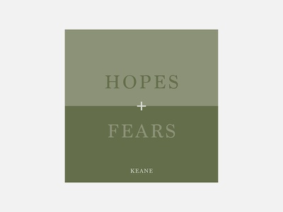 Hopes and Fears – Keane keane typography personal project minimalism album cover design 100 day project